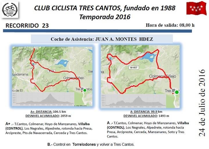 CARRETERA RUTA 23-DOMINGO 24/07/2016 08:00 h. Ruta%2023