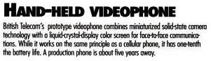 1992 Camera phone concept by british telecom Handheldvp