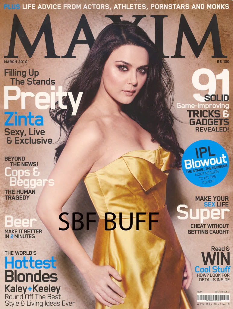 Preity Zinta Sexy, Live and Exclusive on MAXIM 4a7cd558
