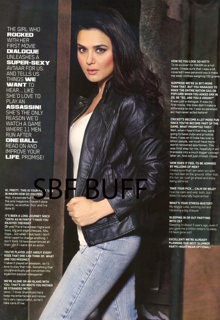 Preity Zinta Sexy, Live and Exclusive on MAXIM B4bb7b97