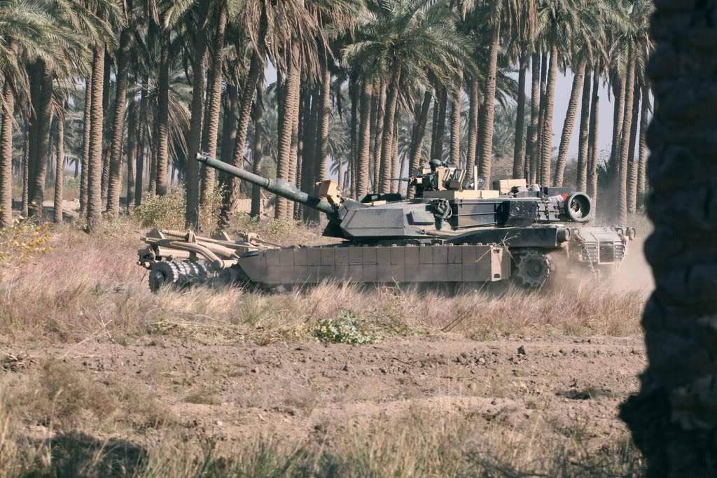 M1s with T.U.S.K Clearing_the_field