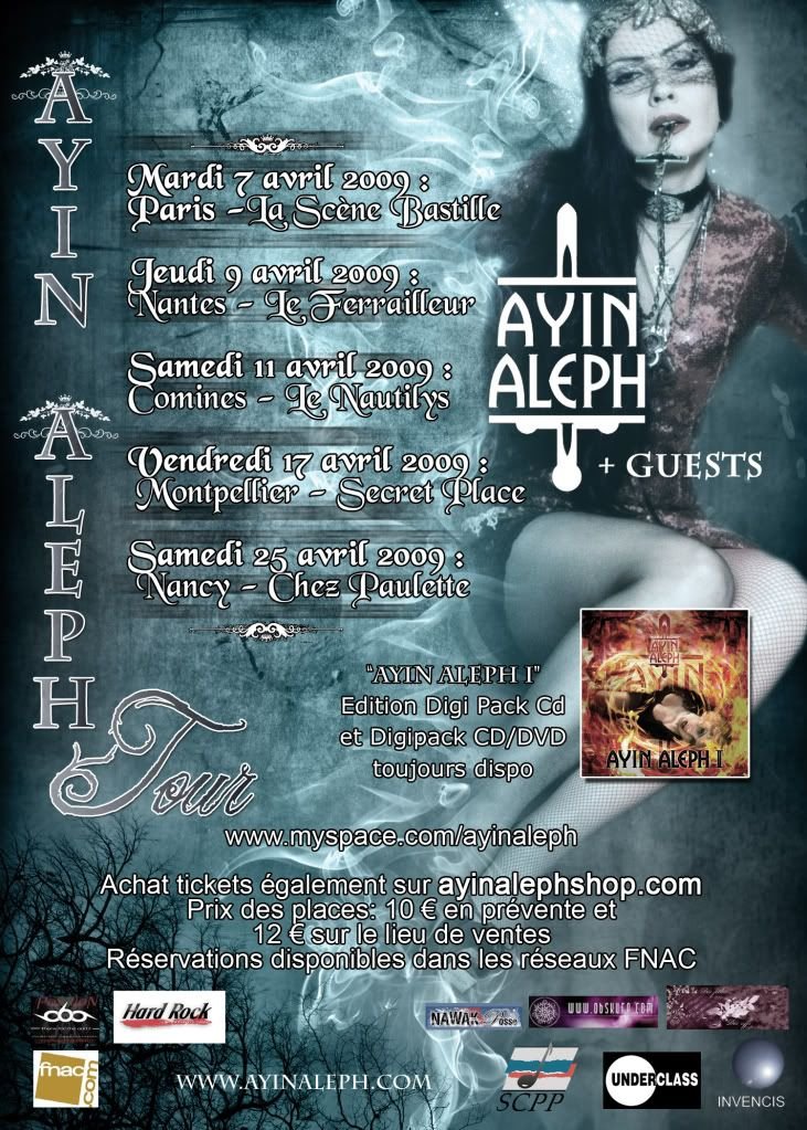 Tournée française AYIN ALEPH en avril 2009 Flyer6