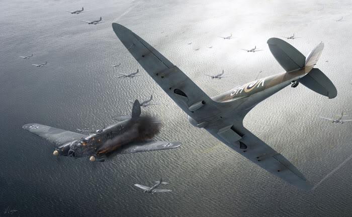 Parabéns à Esquadrilha FENIX! Spitfire-atacam-he111-mardonorte-sh