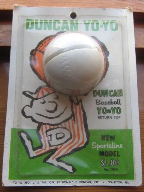 ebay : 1965 Duncan Baseball Yo-Yo Yo Yo Factory Sealed on Card 003