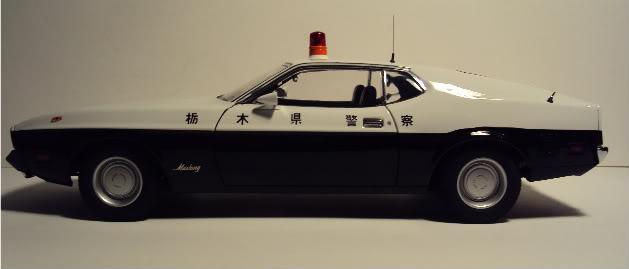 Autoart 1/18: Mustang Mach I Japanese Police car. DSC05502