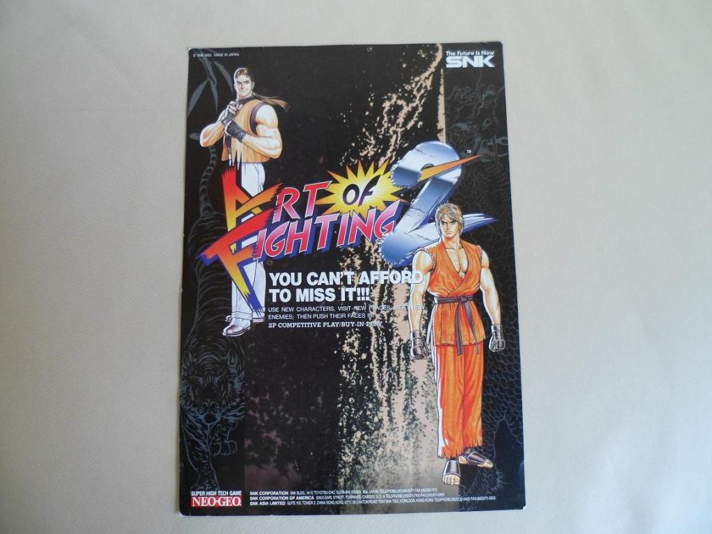 [VDS] Neo Geo and Capcom promo-posters Artoffighting2-front