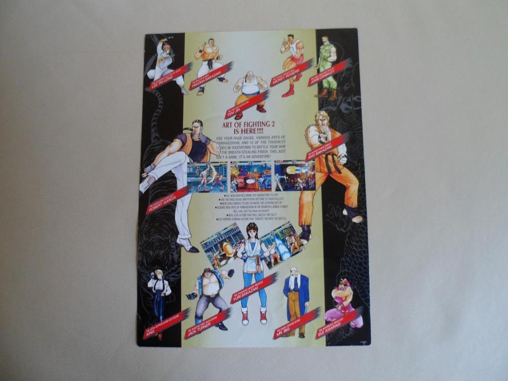 [VDS] Neo Geo and Capcom promo-posters Artoffighting2-retro