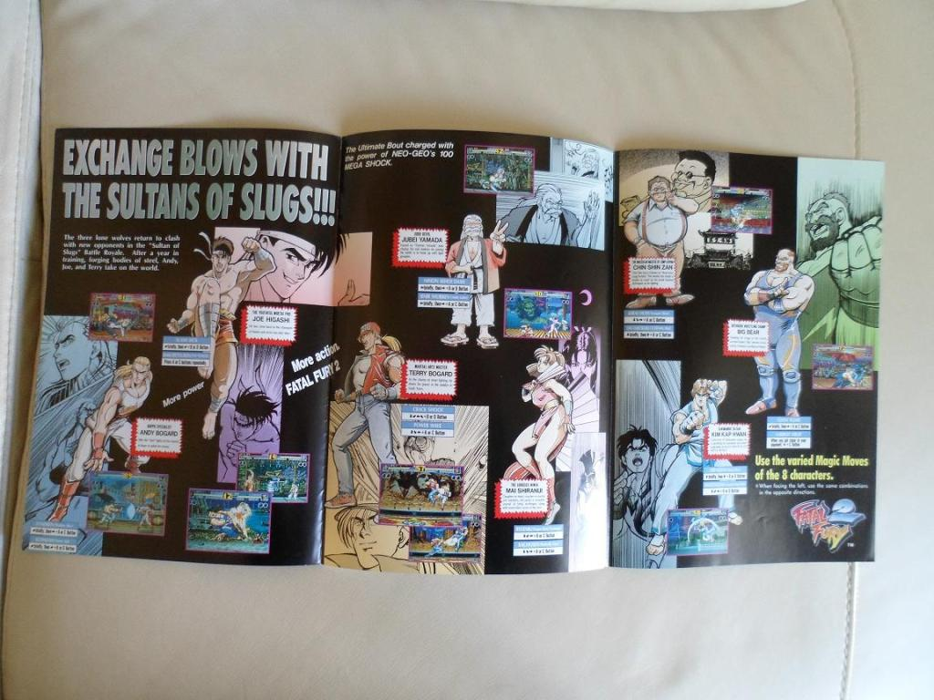 [VDS] Neo Geo and Capcom promo-posters Fatalfury2-inside1