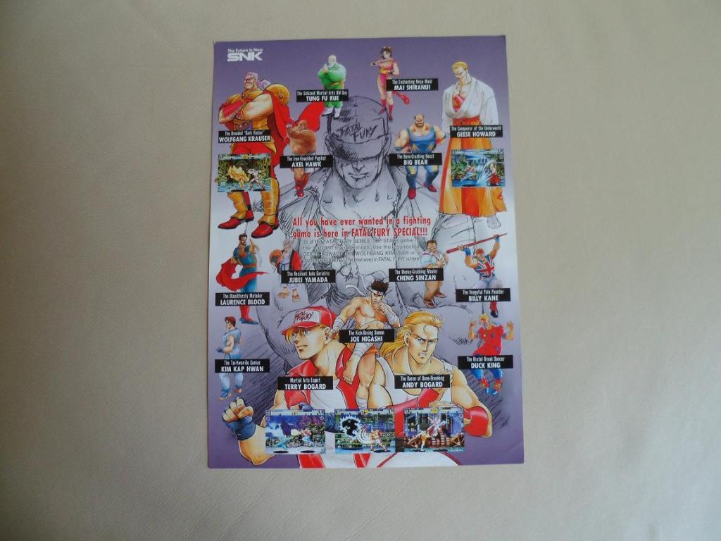 [VDS] Neo Geo and Capcom promo-posters Fatalfuryspecial-retro