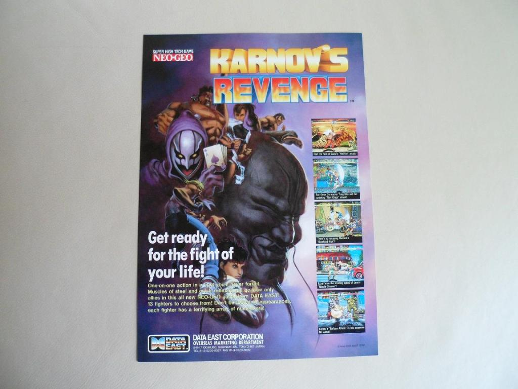 [VDS] Neo Geo and Capcom promo-posters Karnovsrevenge