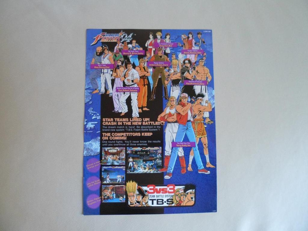 [VDS] Neo Geo and Capcom promo-posters Kof94-retro