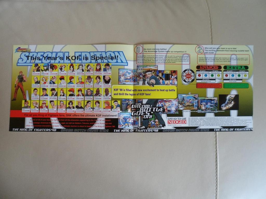 [VDS] Neo Geo and Capcom promo-posters Kof98-retro