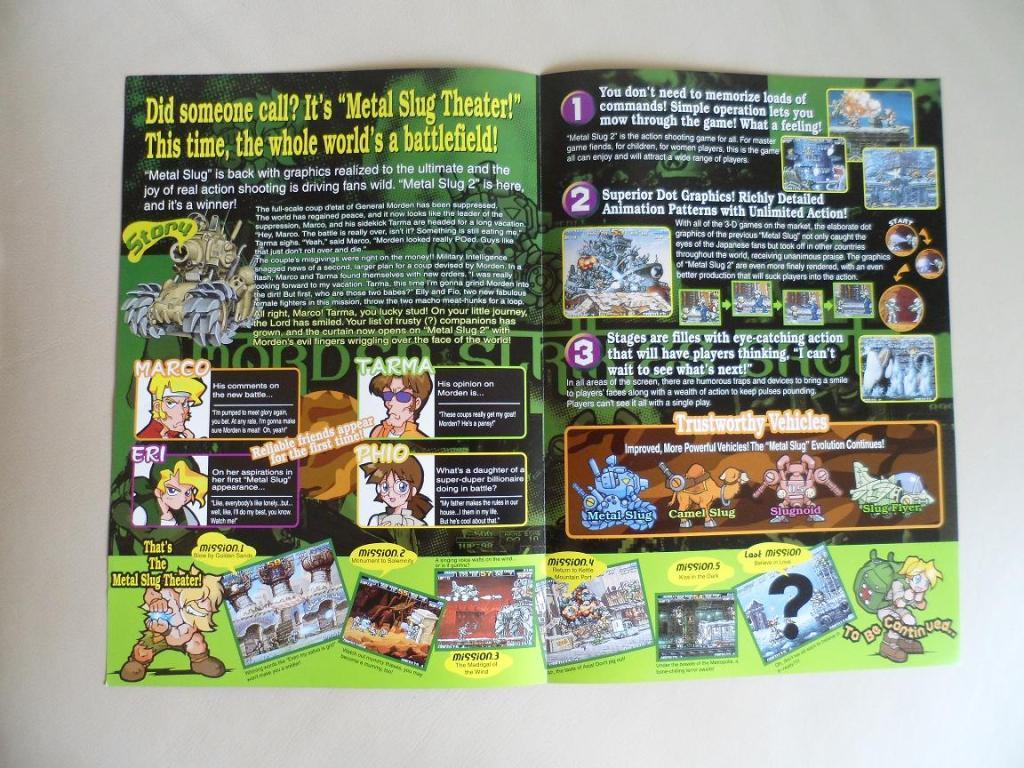 [VDS] Neo Geo and Capcom promo-posters Metalslug2-inside