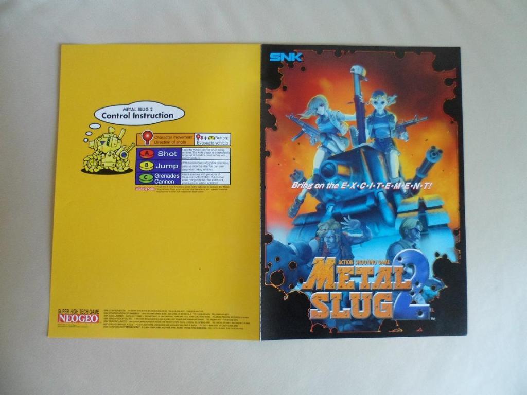 [VDS] Neo Geo and Capcom promo-posters Metalslug2-retro