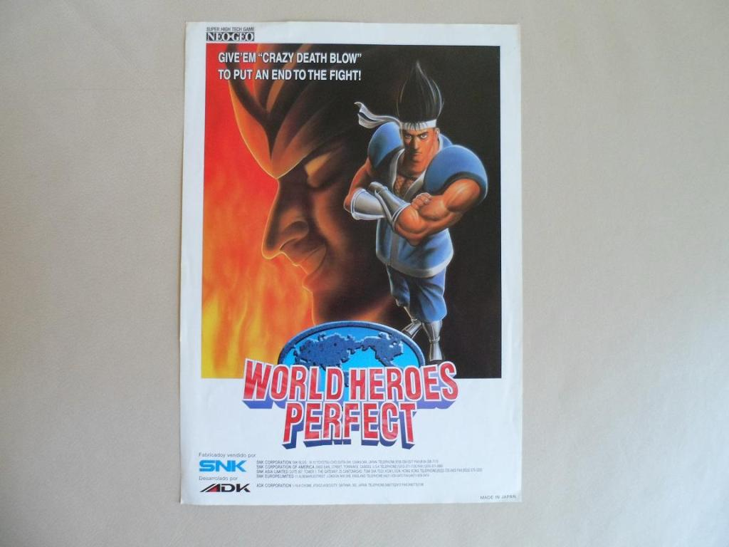 [VDS] Neo Geo and Capcom promo-posters Worldheroesperfect-front