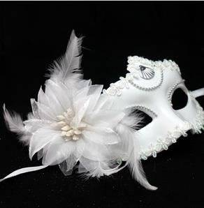 Pictures of our dresses or suits for the Masquerade! Wholesale-woman-lady-white-mask-with-flower-lace-feather-for-christmas-party-dance