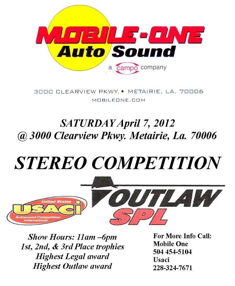 http - usaci forumotion com - Usaci event, New Orleans, Mobile One, Sat April 7th. Mobileone