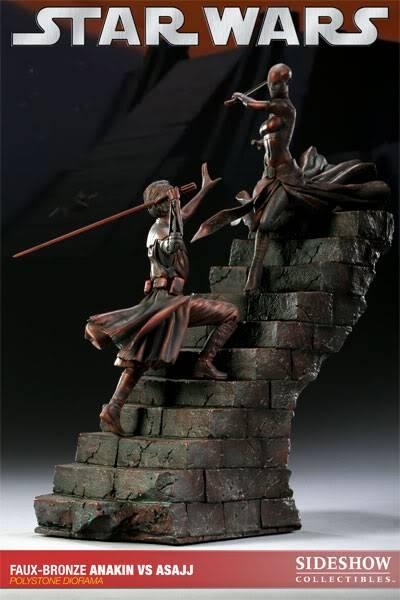Sideshow - Anakin VS Asajj Diorama - Faux Bronze AnakinVSAsajjDiorama01