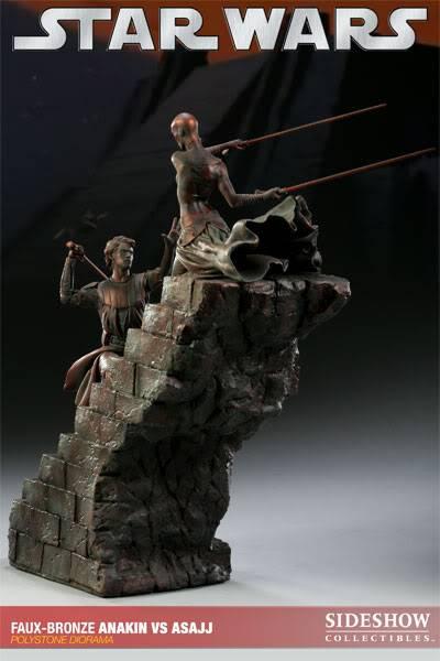 Sideshow - Anakin VS Asajj Diorama - Faux Bronze AnakinVSAsajjDiorama02