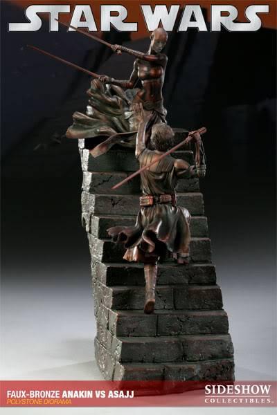 Sideshow - Anakin VS Asajj Diorama - Faux Bronze AnakinVSAsajjDiorama03