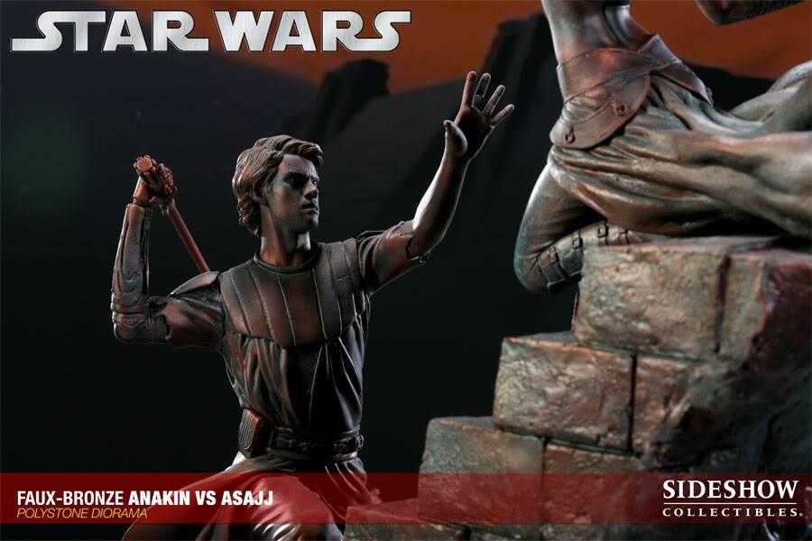 Sideshow - Anakin VS Asajj Diorama - Faux Bronze AnakinVSAsajjDiorama05