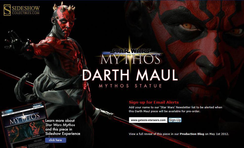"""Sideshow - Mythos - Darth Maul """"Dark Disciple"""" Polystone DarthMaulMythos01"""