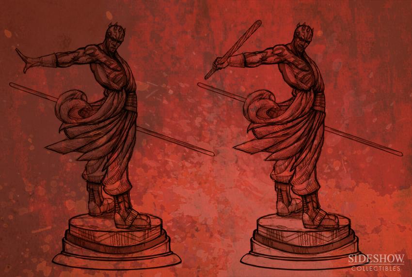 """Sideshow - Mythos - Darth Maul """"Dark Disciple"""" Polystone DarthMaulMythos02"""