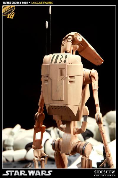 Sideshow - Infantry Battle Droids 12 inch Figure InfantryBattleDroids01