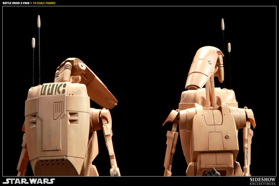 Sideshow - Infantry Battle Droids 12 inch Figure InfantryBattleDroids08
