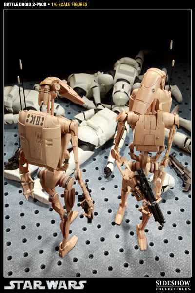 Sideshow - Infantry Battle Droids 12 inch Figure InfantryBattleDroids10