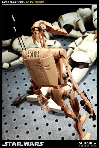 Sideshow - Infantry Battle Droids 12 inch Figure InfantryBattleDroids11