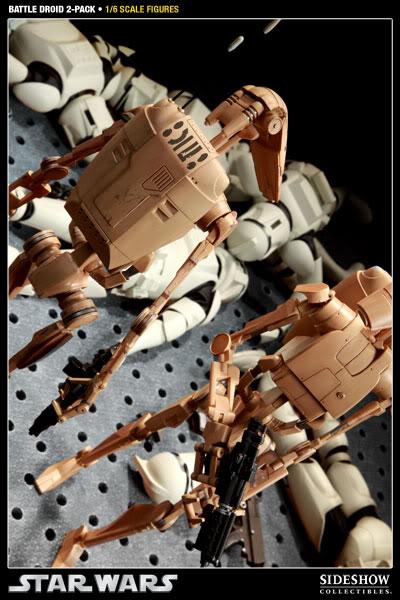 Sideshow - Infantry Battle Droids 12 inch Figure InfantryBattleDroids12