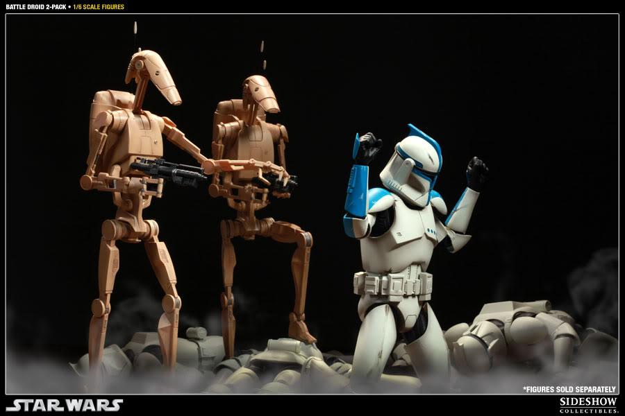 Sideshow - Infantry Battle Droids 12 inch Figure InfantryBattleDroids13