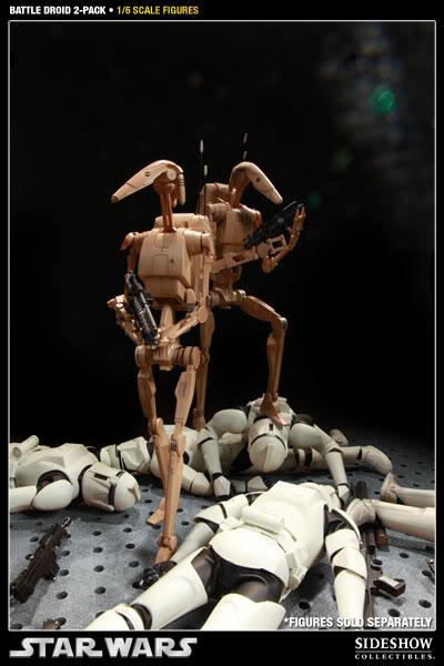 Sideshow - Infantry Battle Droids 12 inch Figure InfantryBattleDroids14
