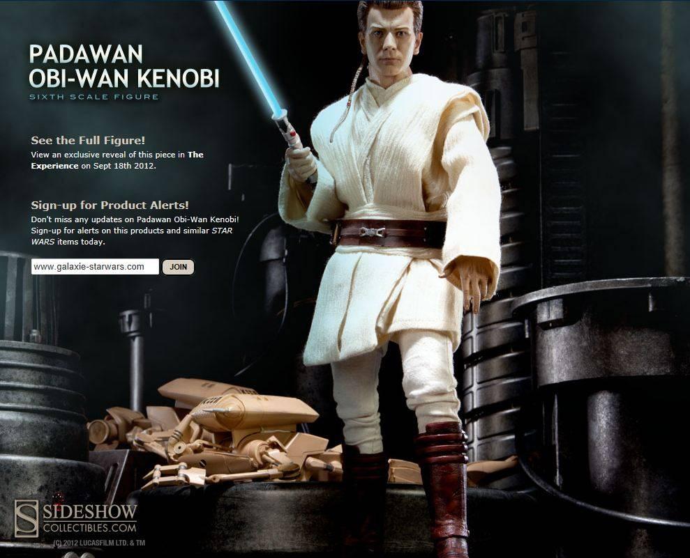 Sideshow - Padawan Obi-Wan Kenobi 12-Inch Figure PadawanObi02