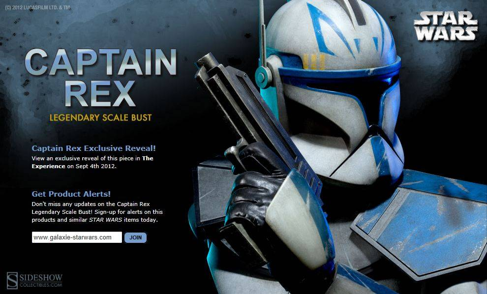 Sideshow - Captain Rex - Legendary Scale Bust RexLegendaryBust01