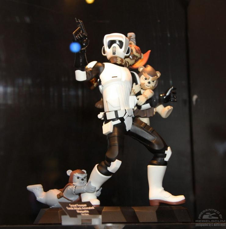 Gentle Giant - Animated Maquette - Scout Trooper Ewok Attack GGScootAttackEwoks01