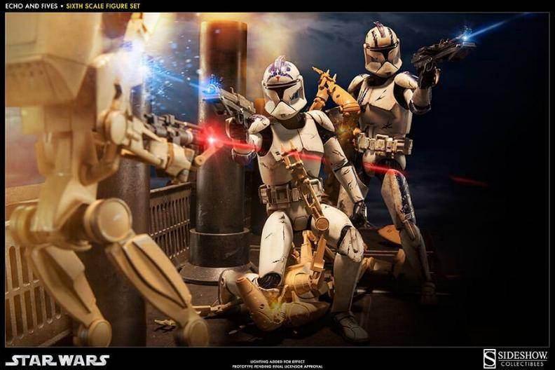 Sideshow - Clone Troopers: Echo and Five Sixth Scale Figure EchoandFive02_zpsb93620b2