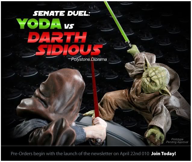 Sideshow - Senate Duel: Yoda vs. Darth Sidious YodavsSidious