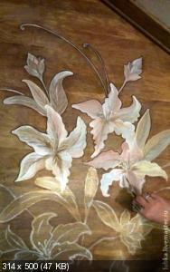 Ручная роспись деревянного пола. Идеи 1a1914fcf50b51c9a623ef1930294f10