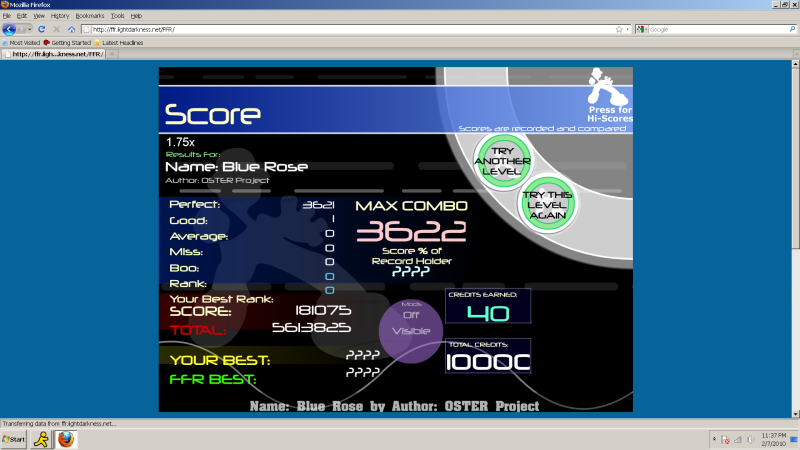 Post your FFR Scores here! - Page 4 BlueRoseAJ