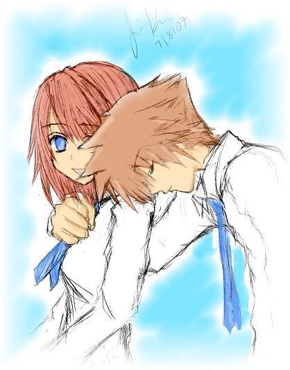 صور شخصيات انمي رائعه جدا تجميع خاص  kingdom hearts  _Sora_and_Kairi__by_SoraxKairiClub