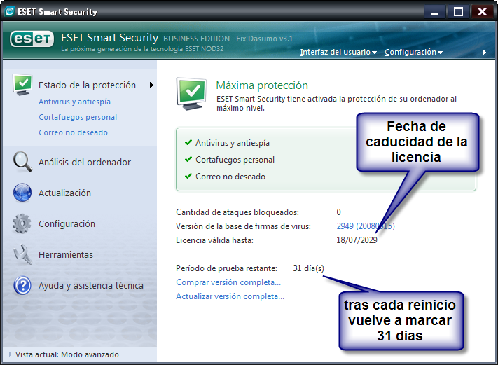 NOD32 Antivirus 4.0.424 + Crack (Abril/09) 2ed0285