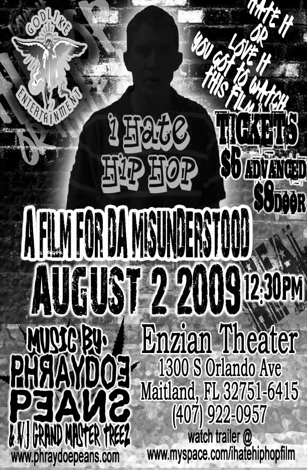 """""""I Hate Hip Hop"""" Premiere with Special Performances by Phraydoe Peans and More! IHATE_HIPHOP_FLYER_FRONT_ORLANDO_co"""