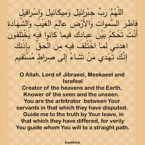 Adkhar – Recited during the various positions in Salah Dhikr45