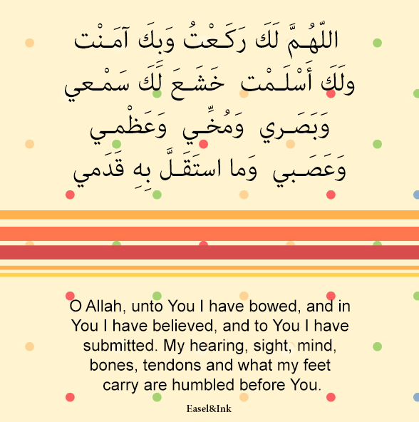 Adkhar – Recited during the various positions in Salah Dhikr51