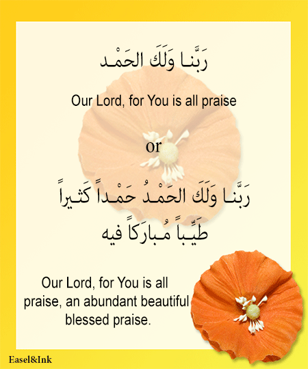 Adkhar – Recited during the various positions in Salah Dhikr54