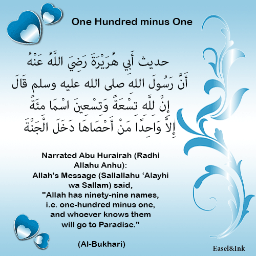 Name & Attributes of Allah  99nameshadith
