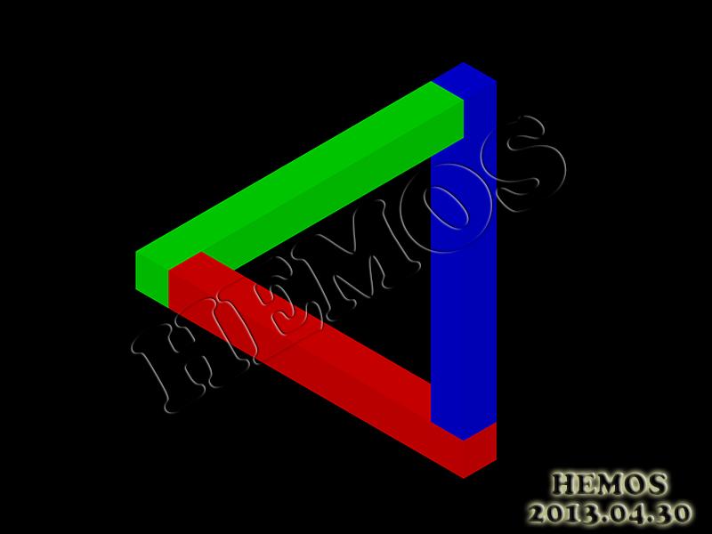 CAD做的錯覺圖 Penrose_zps3636be0f