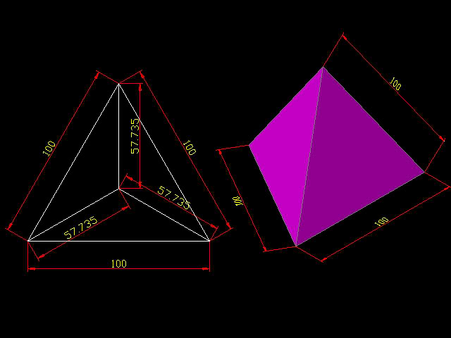 [討論] 請問正四面體的畫法? T001